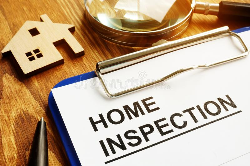 Home inspection report on a clipboard