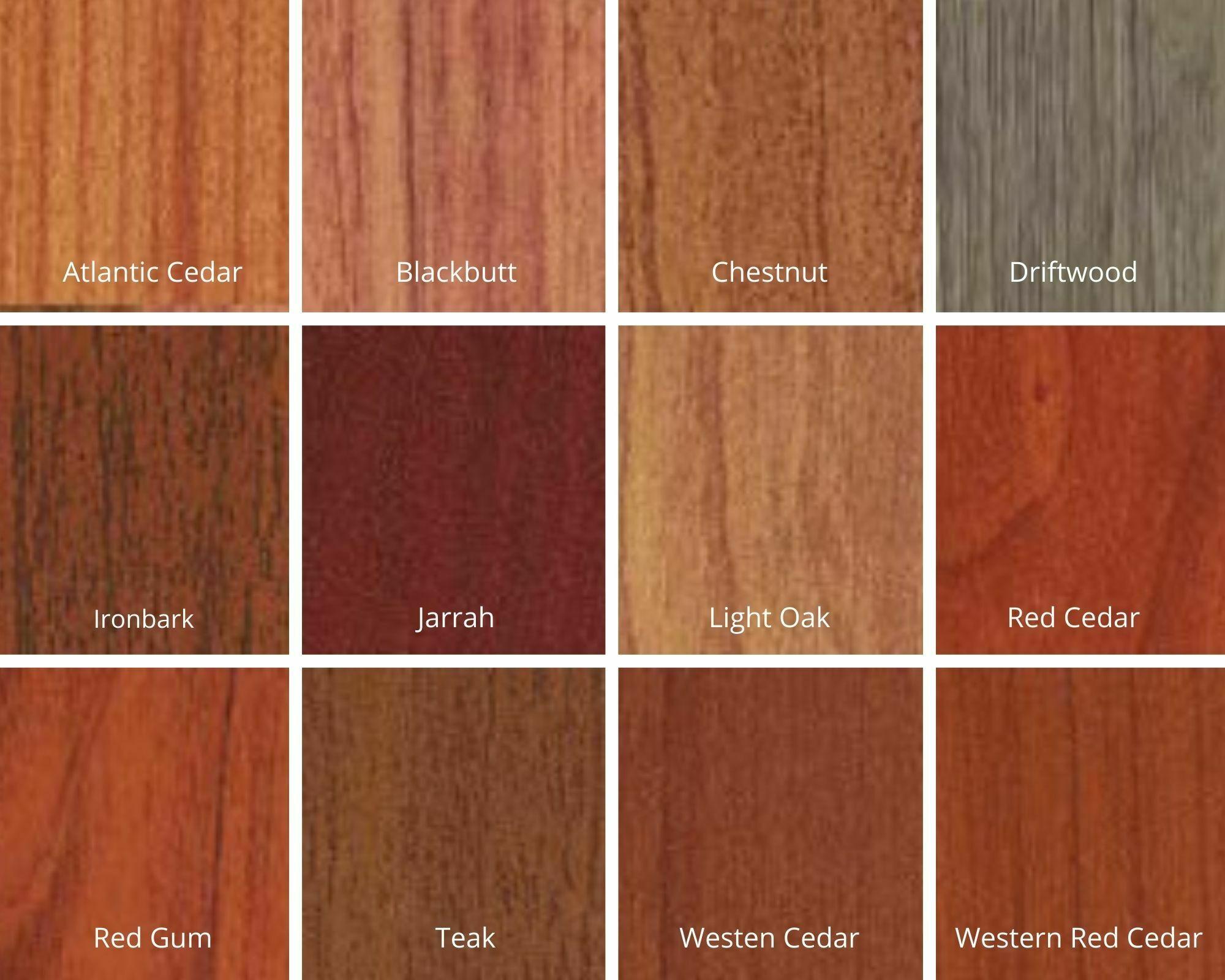 woodlook colour selection
